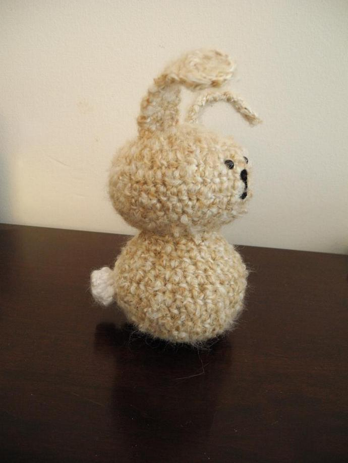 Fuzzy Bunny in Wool and Mohair