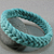 teal herringbone turks head bracelet large 457