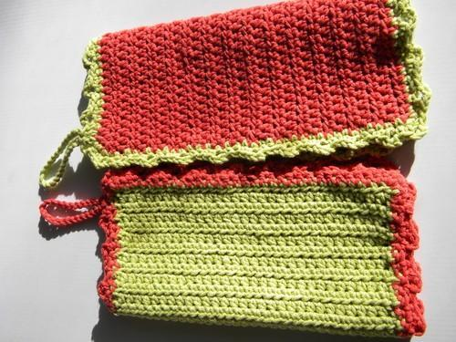 Terra-Lime Dishcloths - Retro Fun for you Kitchen