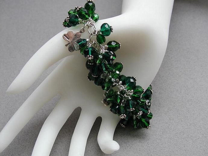 Handcrafted  Green for the Day Bracelet