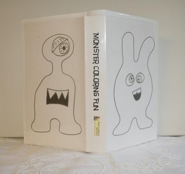 Monster Fun Travel Coloring Kit by CreativeMiscellany on Zibbet