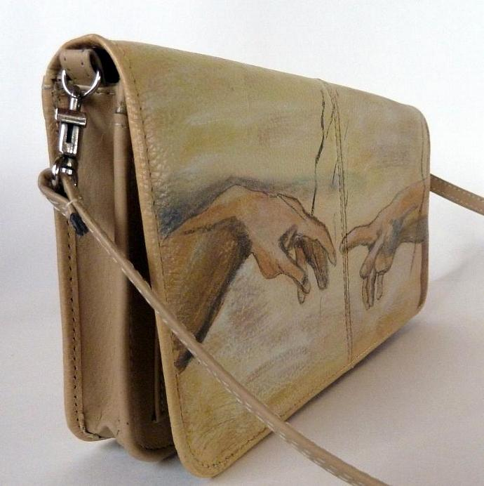 JUNE SALE!!   CREATION - Hand Painted Purse / Clutch