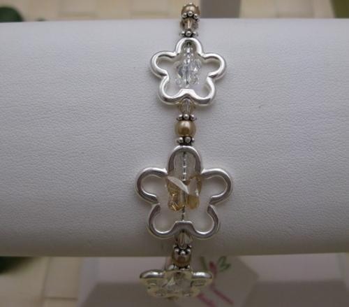 Golden Butterfly in the Meadow Bracelet