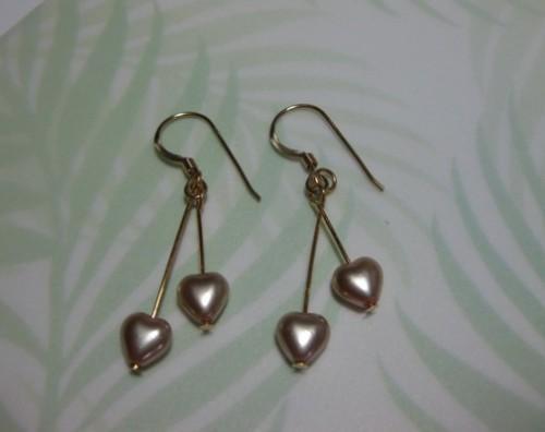 Gold Hearts Earring