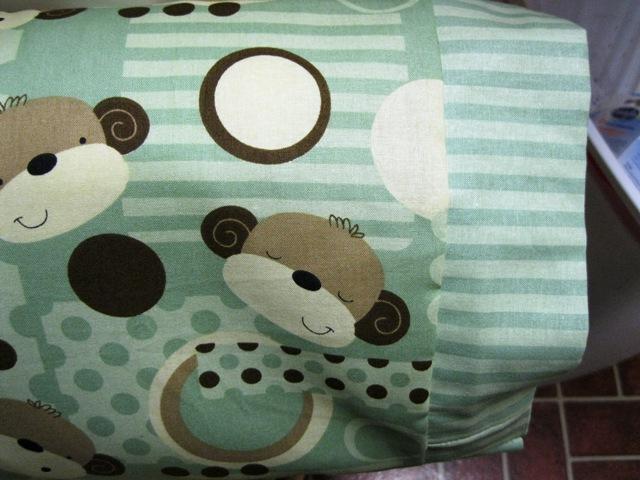 NEW Sage Monkey MINI Pillowcase kids/travel pillowcase
