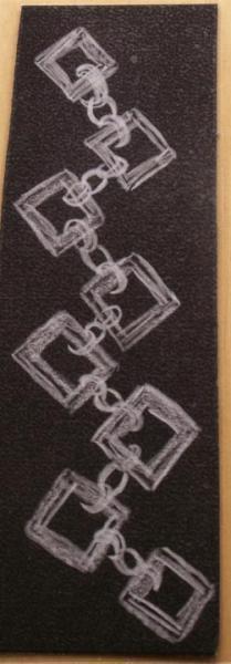 3 black and white hand drawn laminated Bookmark Set