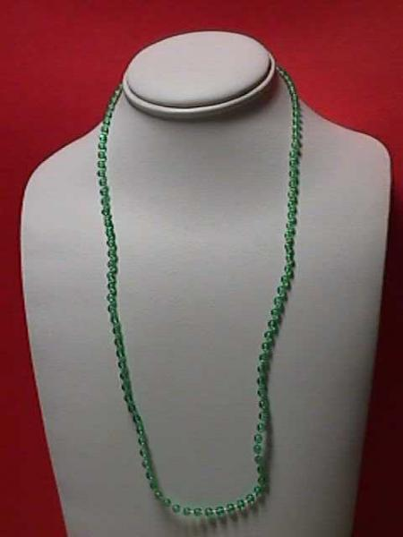 """Vintage - 24"""" Green 1/8"""" Beaded Necklace"""