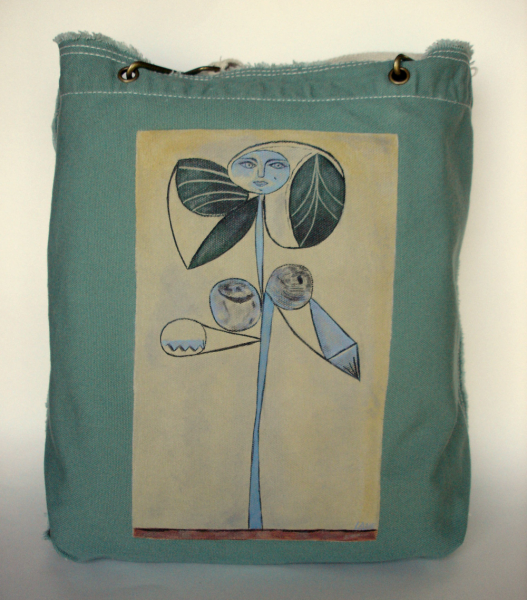 WOMAN/FLOWER PICASSO - Hand Painted Tote