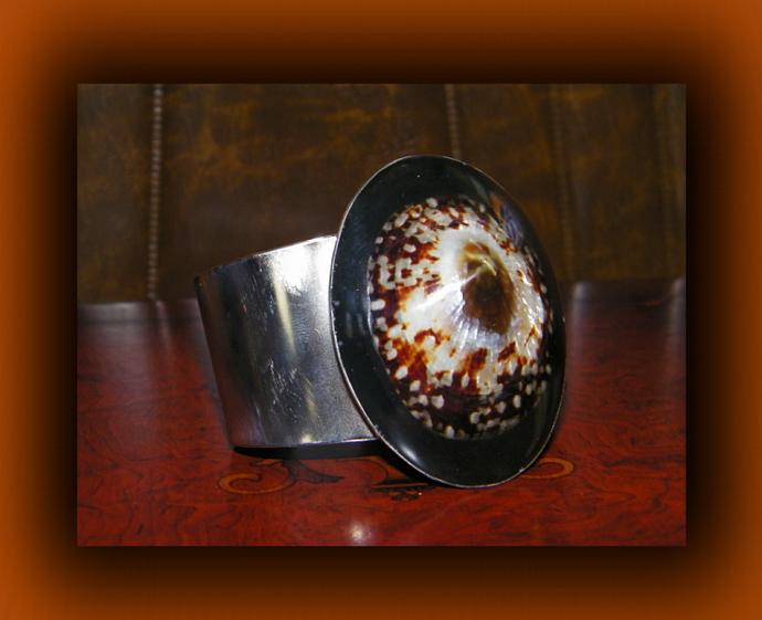 Oval Limpet Cuff Bangle Bracelet