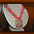Red Stone Mosaic Limestone Pendant Necklace