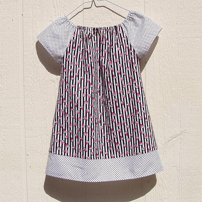Watermelon Dreams Peasant Dress, size 4T
