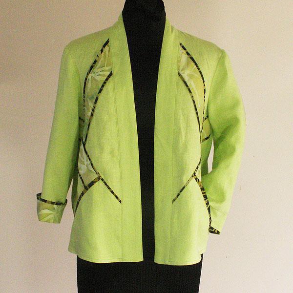 Midori Green Linen Jacket - Size Small, X Small