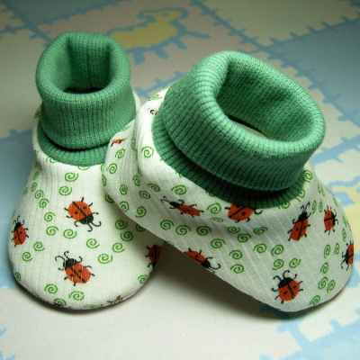 Sweetgrass Meadow, Baby Bootie Pattern, includes 5 sizes, PDF