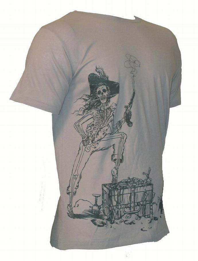 Men's Organic Pirate Shirt in Stone