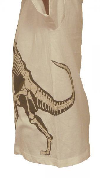 SALE Kids' T-Rex Shirt--White, Organic Cotton, Glows in the Dark