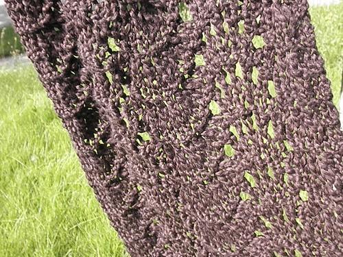 Coffee Color organic cotton shawl
