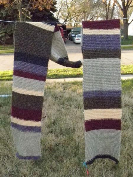 SALE Multicolor scarf similar to Tom Baker Dr Who