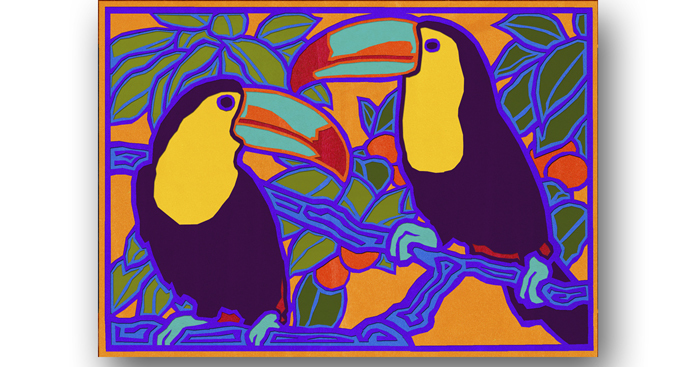 Original zibbet mola example toucans